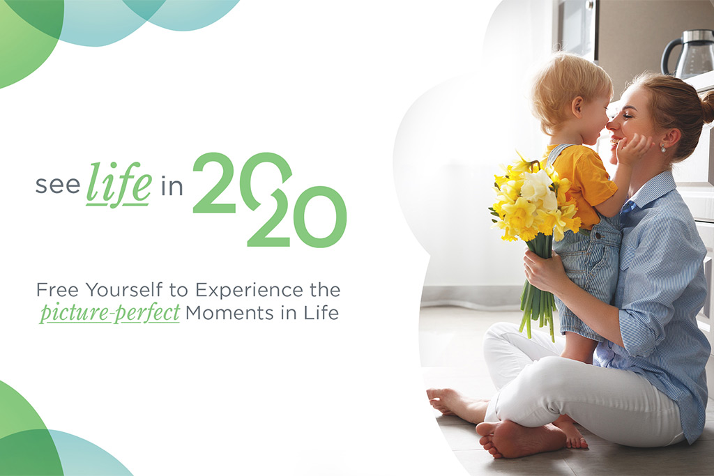 See Life in 2020 Spring image of young mother receiving yellow flowers from her child